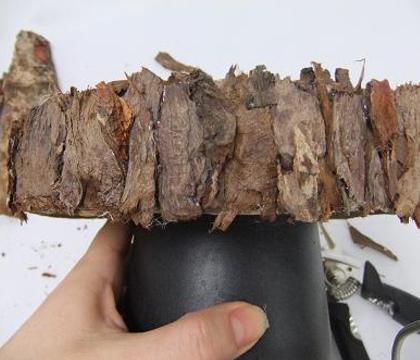Bark Veneer Cardboard Cake stands