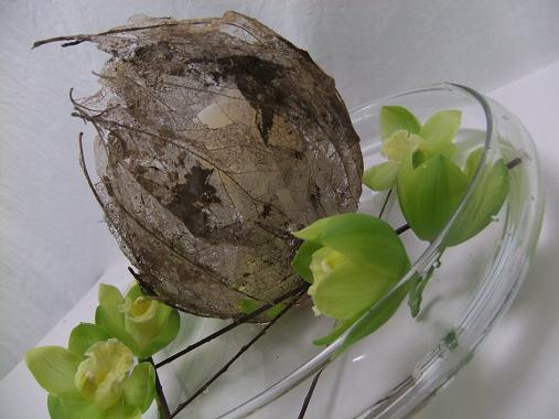 Hide a candle in a leaf cocoon
