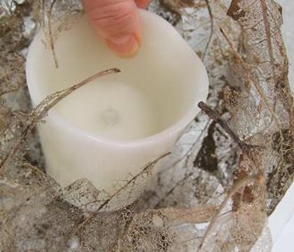Skeleton Leaf Flameless Candle Cocoon