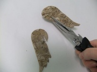 Birch Bark Wings to hang over the rim of a glass