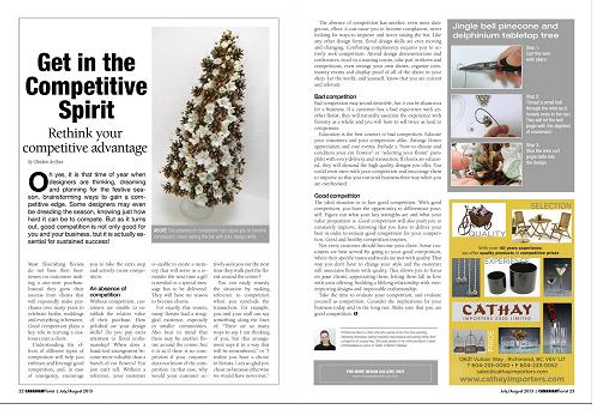 Article in the Canadian Florist Magazine