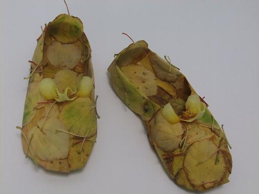 Fall leaf ballet slippers