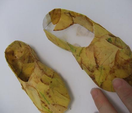 Autumn leaf ballet slippers from scratch