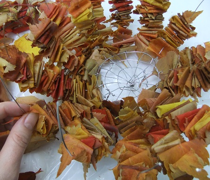 Spiked Autumn leaf cauldron