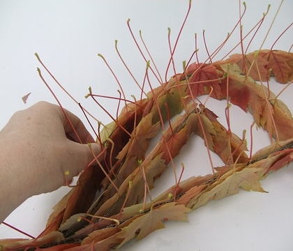 Salmon pink Fall leaf armature