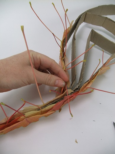 Glue the stems to point up.