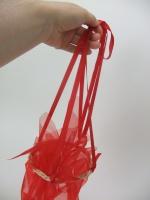 Flower Girl Red Net Basket