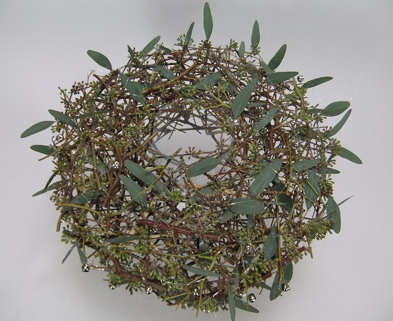 Seeded Eucalyptus Christmas table top wreath