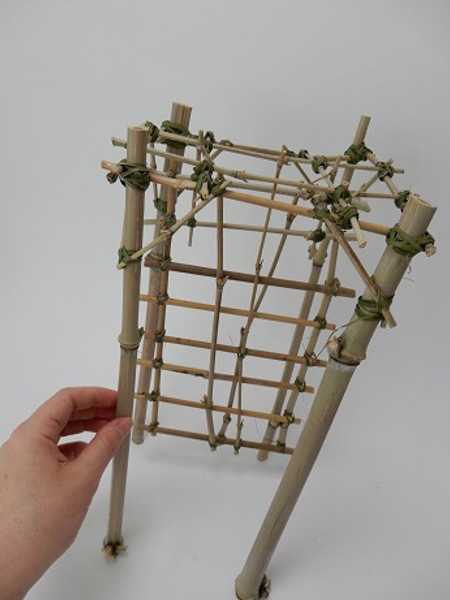 Bamboo panel and armature ready to design with