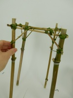 Bamboo scaffold armature