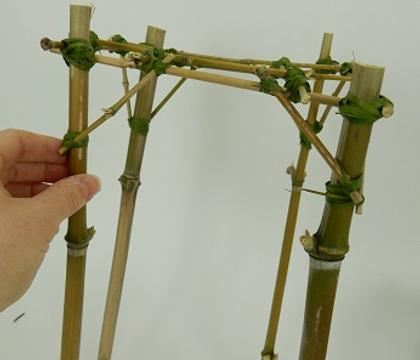 Bamboo scaffold armature