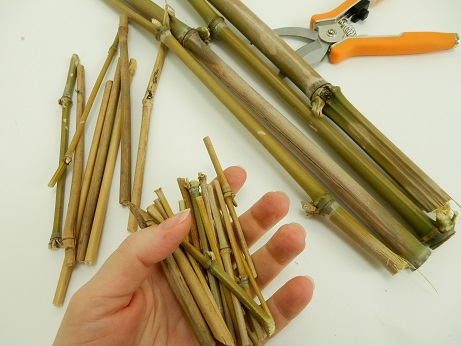 Cut 16 pieces of very thin bamboo