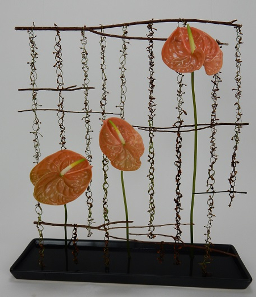 Chain of Thought floral art design