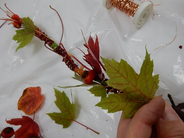 Keep adding leaves to create a long garland