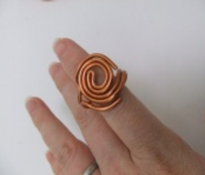 Flat Top Spiral Wire Ring