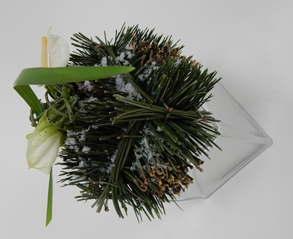 Pine needle cube Christmas design