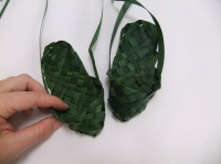 Weaving Slippers from Foliage