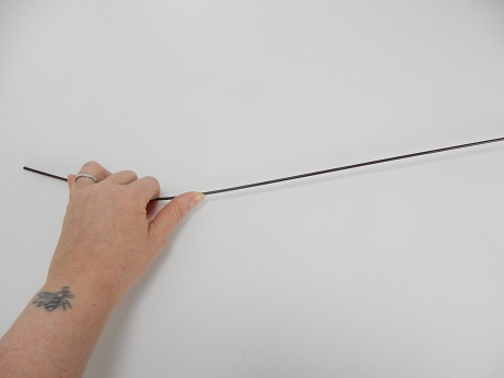 Bend a thick, strong wire into a curve