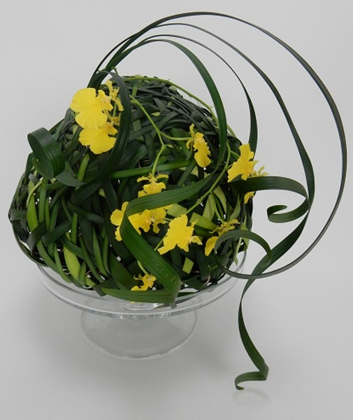 Oncidium orchids in a grass armature
