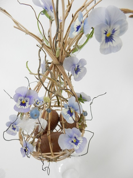 Willow and cane and Viola Spring basket.