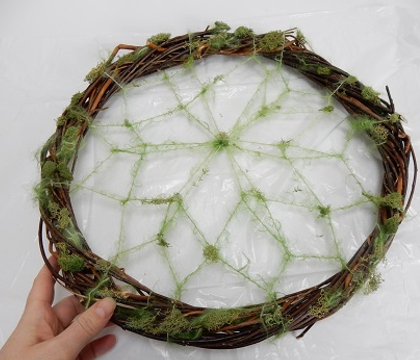 Overgrown Willow web inspired by a traditional Dream-catcher