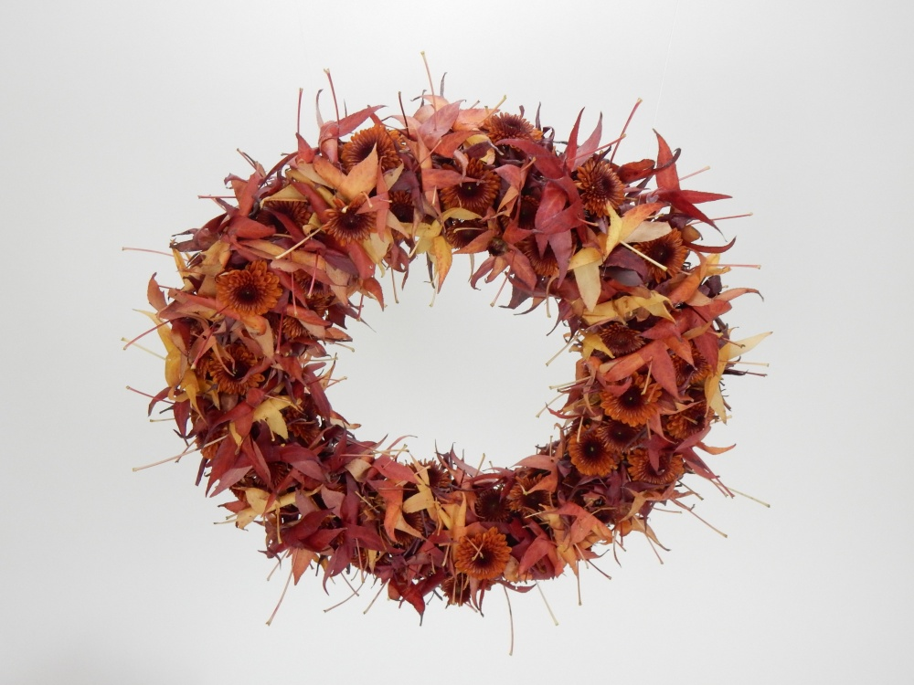 Rusty Autumn leaf wreath