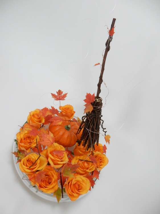 Twig broom Halloween design