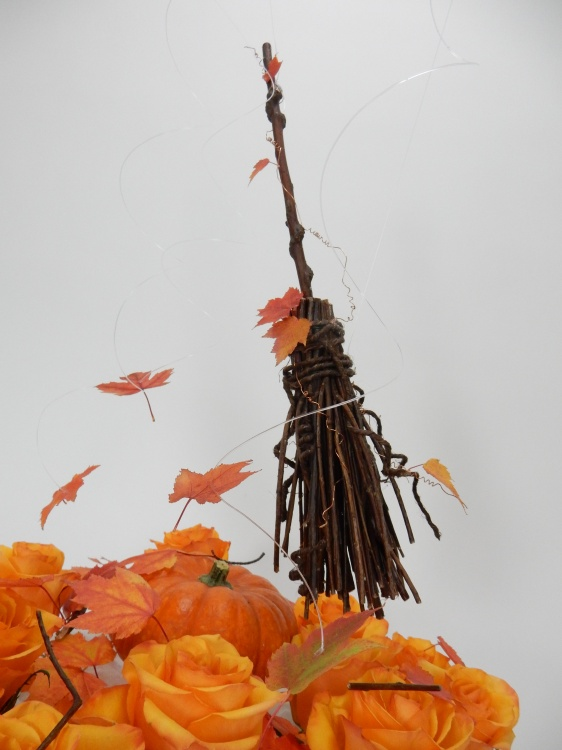 Twig broom to sweep up those autumn leaves