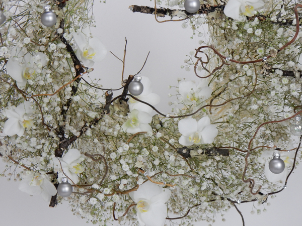 Gypsophila, Phalaenopsis and twigs