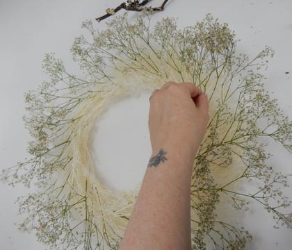 Winter White Gyp Wreath
