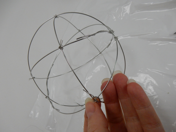 Keep adding rings to build up a ball shape