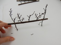Sticks stuck in a twig on sticks armature