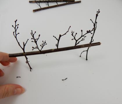 Sticks stuck in a twig on sticks armature