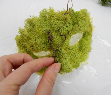 Moss Colombina inspired mask