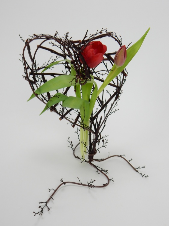 Be My Twig-Heart floral art design