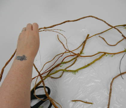 Wire Wrapped Willow Garland