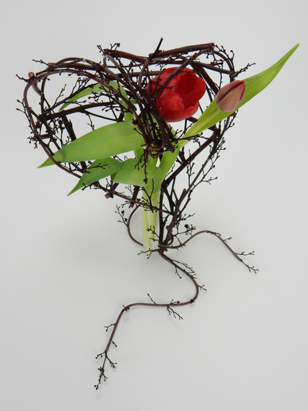 Twig and wire heart