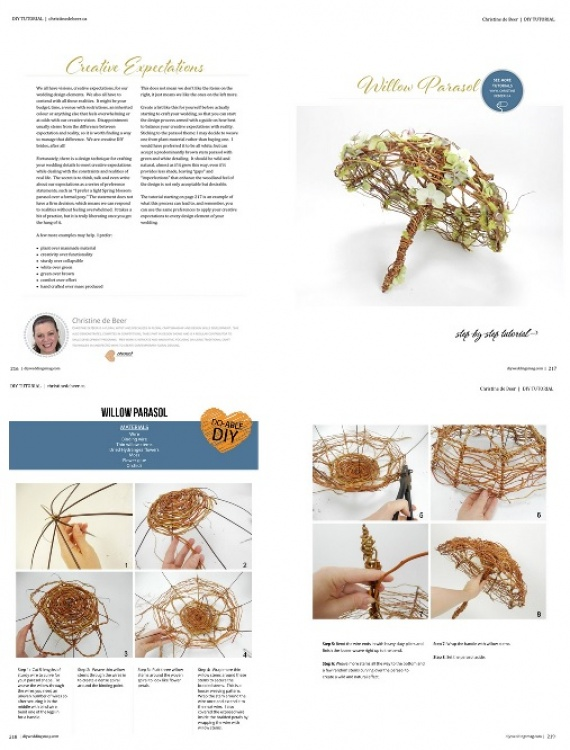 DIY Weddings Magazine Parasol design