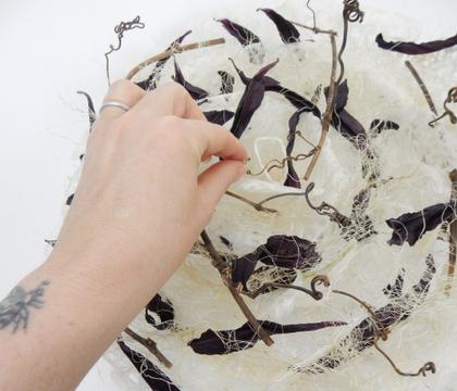 Spiral Washi Rose armature