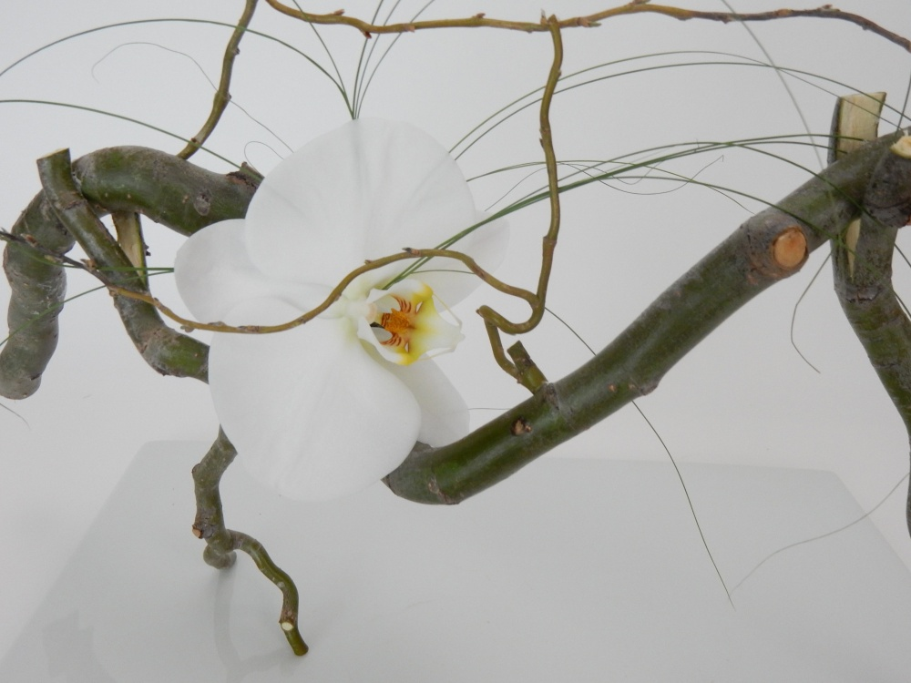 Free standing willow twig armature with a hidden water source