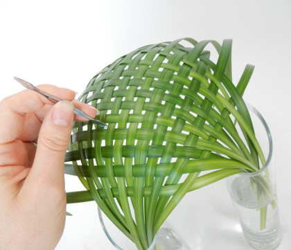 Woven lily grass parachute armature