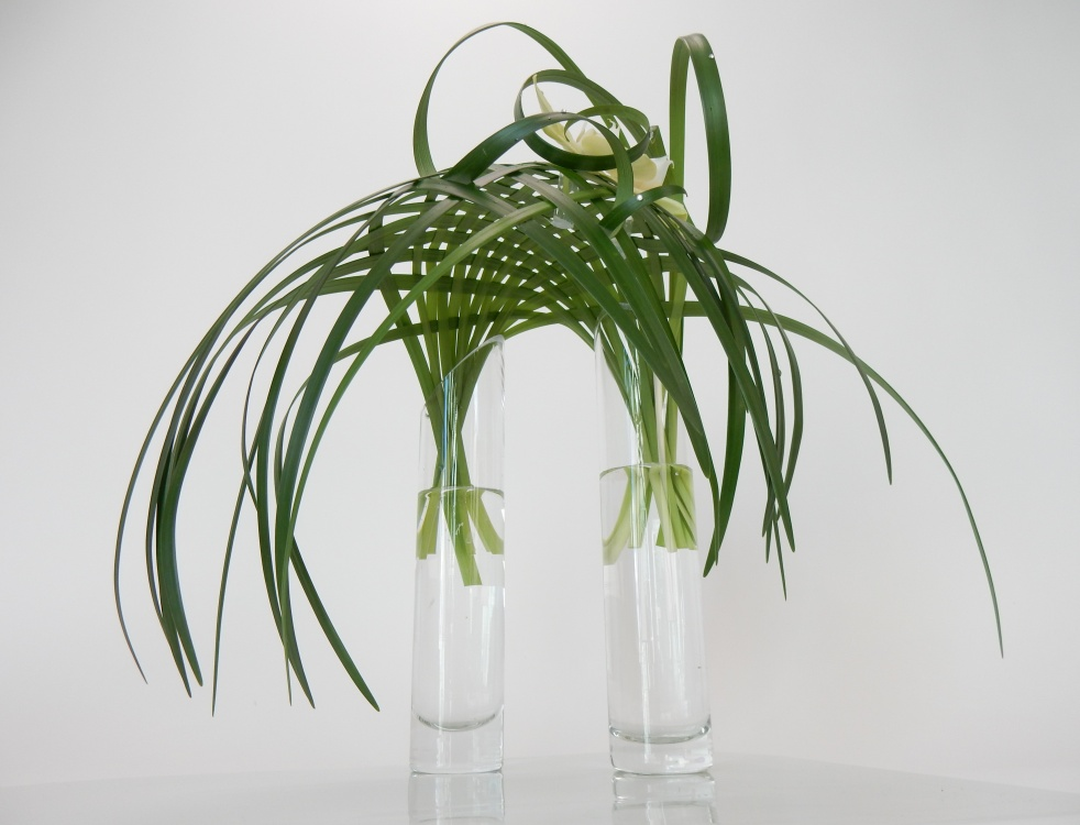 Woven lily grass parachute shaped armature