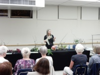 """I found it this way"" Floral art demonstration at the Capilano Flower Arranging Club"