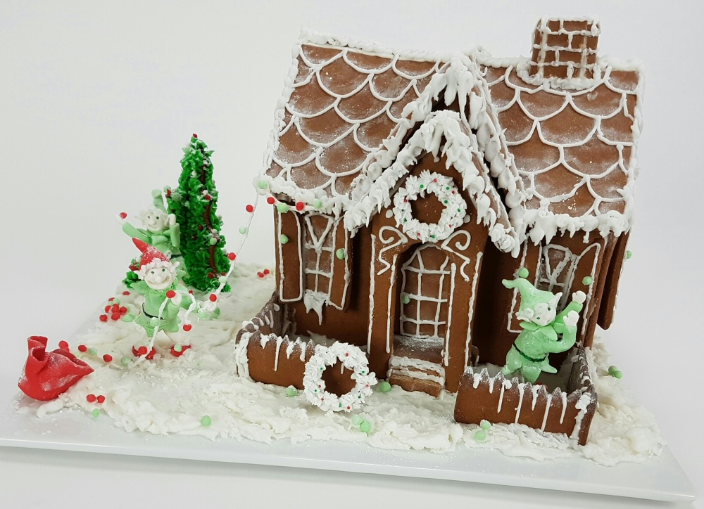 Gingerbread Santa's workshop