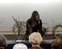 All things Autumn (by which I mean all things chocolate) floral art demonstration at the BC Floral Art Society
