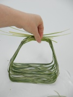Flat wire and grass bridal basket