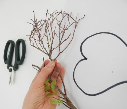 A Sprouting Spring Twig Heart