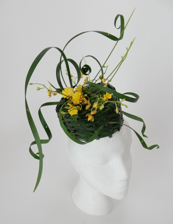 Easter bonnet woven from lily grass