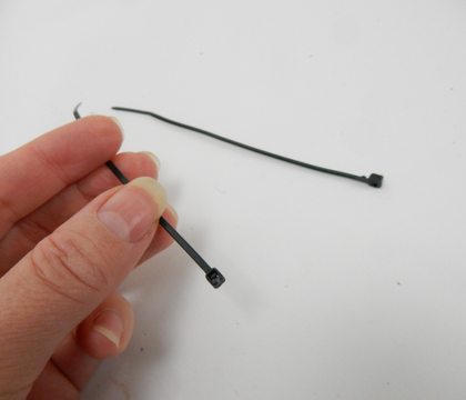 Extend cable ties to secure bigger bundles of twigs or thicker stems
