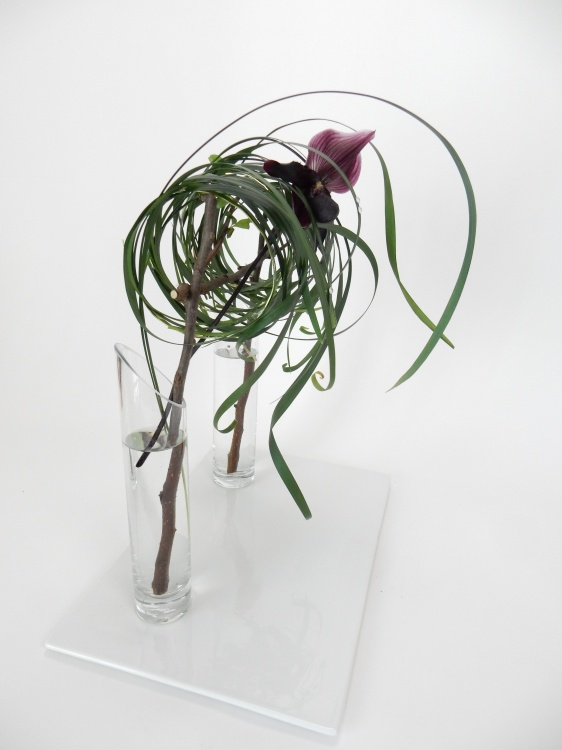 A tangle grass tumble suspended in two vases